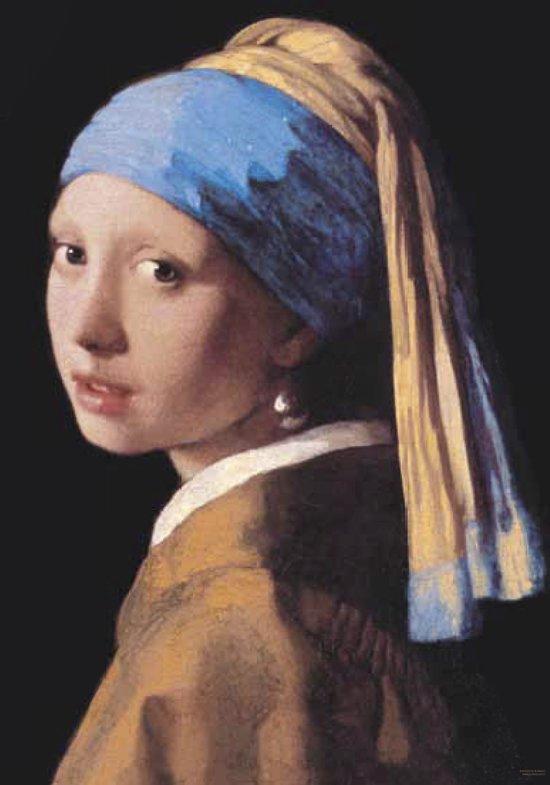 Vermeer-Meisje van Vermeer-Luxe Poster-Art-kunst-Meisje met de Parel-Large-formaat-70x100cm.