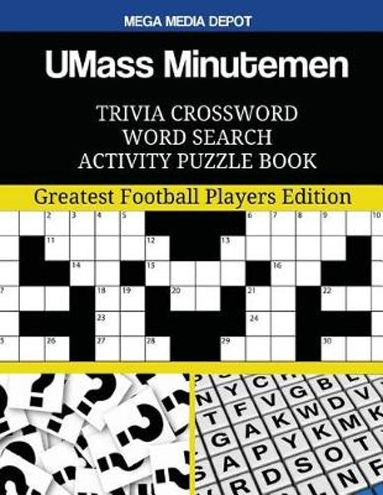 UMass Minutemen Trivia Crossword Word Search Activity Puzzle Book
