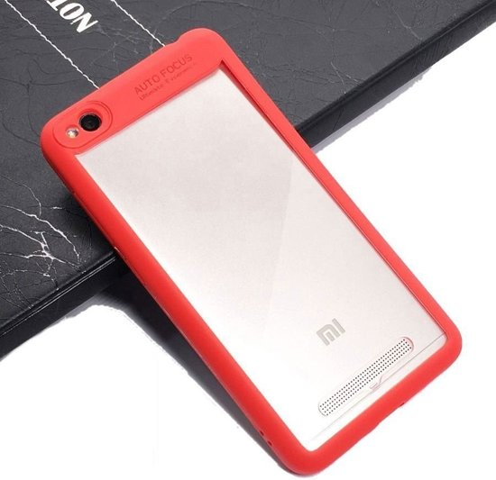 Teleplus Xiaomi Redmi 4A Double Color Silicone Case Red + Full Closure Glass hoesje