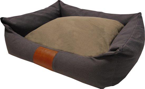 Frankie Canvas Lock - Hondenmand - Antraciet - L: Binnenmaat ± 65 x 45 cm