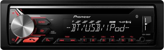 pioneer deh 3900bt bluetooth zwart autoradio. Black Bedroom Furniture Sets. Home Design Ideas