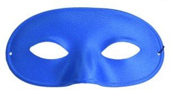 Oogmasker domino blauw