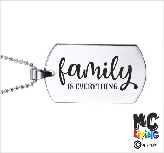 Ketting RVS - Family Is Everything