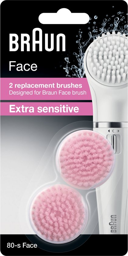 Braun Face 80-s Vervangende Extra Sensitive epilatorborstels - 2 stuks