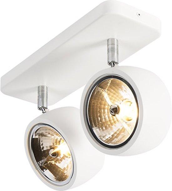 QAZQA go nine sl - Plafond spot - 2 lichts - L 300 mm - Wit