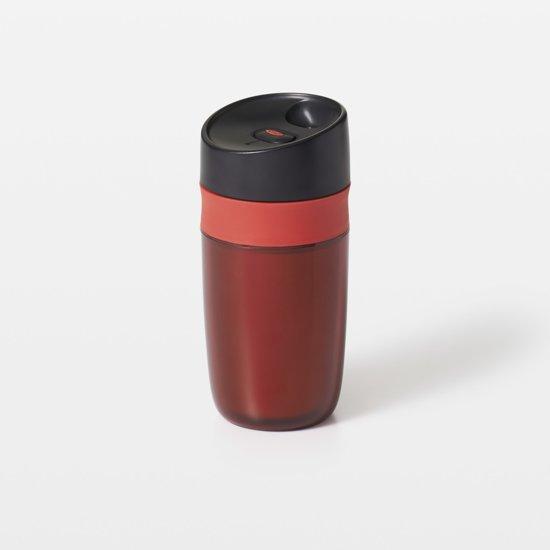 OXO Good Grips Reisbeker Thermoskan Travel Mug - 295 ml - dubbelwandig - rood