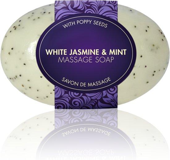 2 stuks massage zeep - Mint en Jasmijn