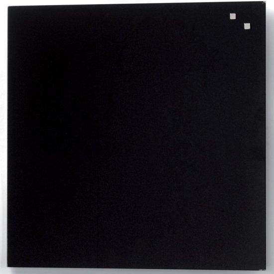 2x Naga magnetisch glasbord, zwart, 45x45cm