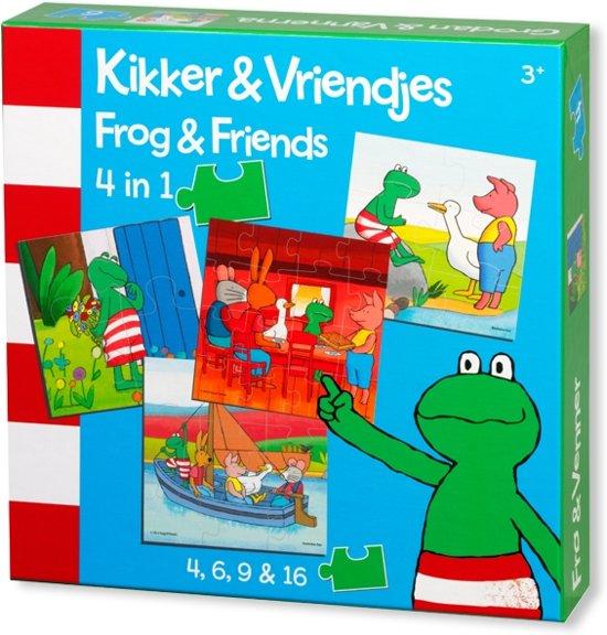 Kikker & Vriendjes 4-in-1 Puzzel