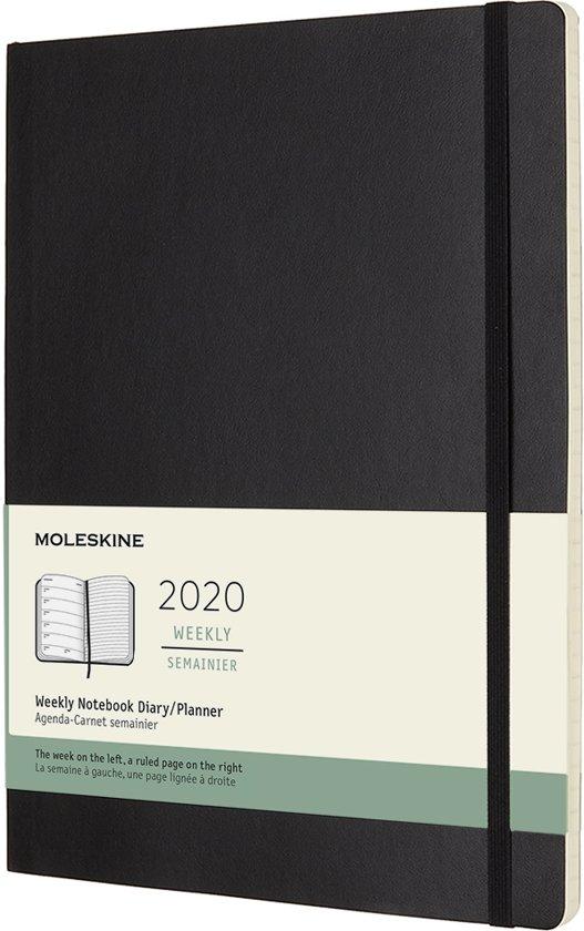 Afbeelding van Moleskine Agenda - 12 Maanden - Wekelijks - XL (19x25cm) - Zwart - Zachte Kaft