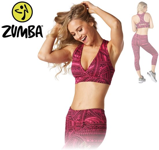 Zumba All Day V Bra Roze Maat L Sportbeha - Sport BH