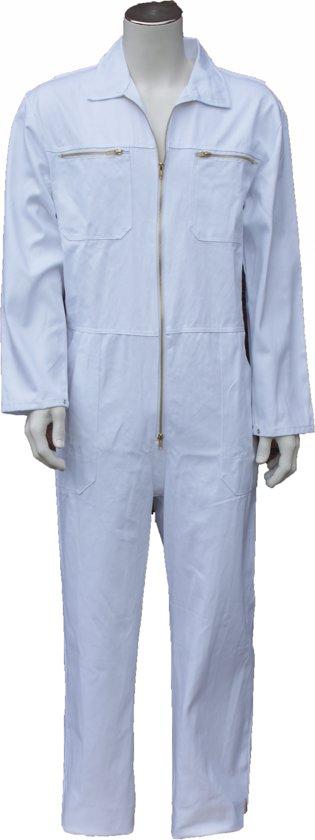Yoworkwear Overall 100% katoen met rits wit maat 53