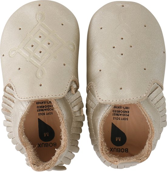 Bobux babyslofjes gold tassle trim moccasin loafer - Maat Medium