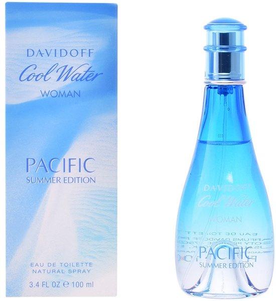 MULTI BUNDEL 2 stuks COOL WATER WOMAN PACIFIC SUMMER EDITION Eau de Toilette Spray 100 ml
