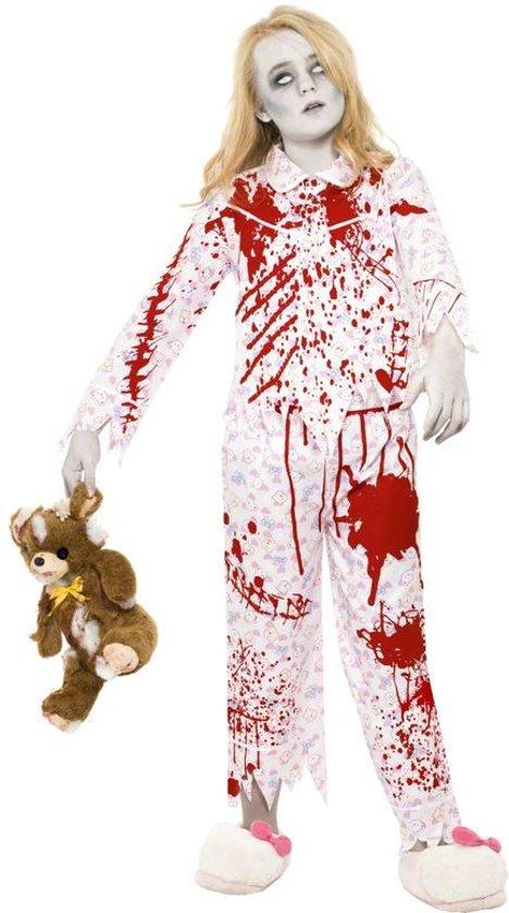 Zombie Halloween pyjama kostuum voor meisjes - Verkleedkleding - 134-140