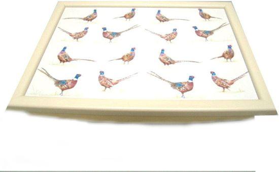 Laptray fazanten schootkussen thema dieren cadeaus fazant kado