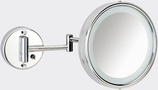 bol.com | Plieger Scheerspiegel basic met verlichting - wandmontage ...
