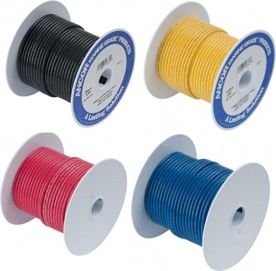 Standaard elektriciteitkabels alle kleuren en maten per 1 m