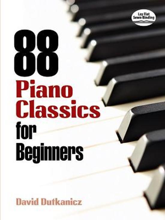 Boek cover 88 Piano Classics for Beginners van David Dutkanicz (Paperback)