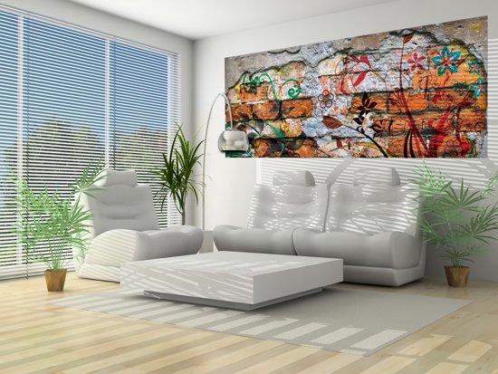 Fotobehang Graffiti | Oranje | 250x104cm