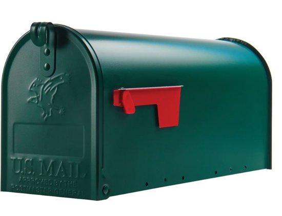 Amerikaanse brievenbus / US mailbox (groen, staal)
