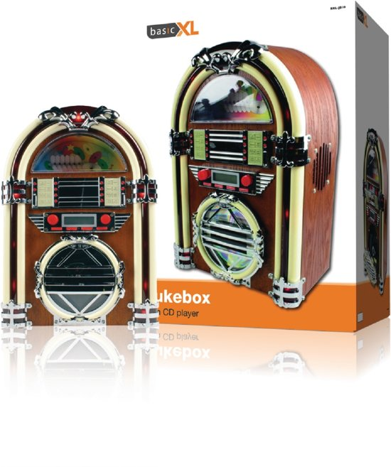 Basic XL, Retro Jukebox met AM/FM radio en CD-speler