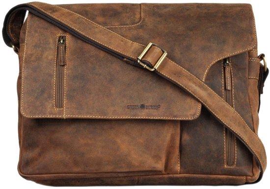 416ec895552 bol.com | GreenBurry Boston - grote stoere schoudertas van vintage ...