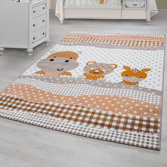 Flycarpets Kids vloerkleed - Beige  80 X 150 CM Kinderkamer Beertjes