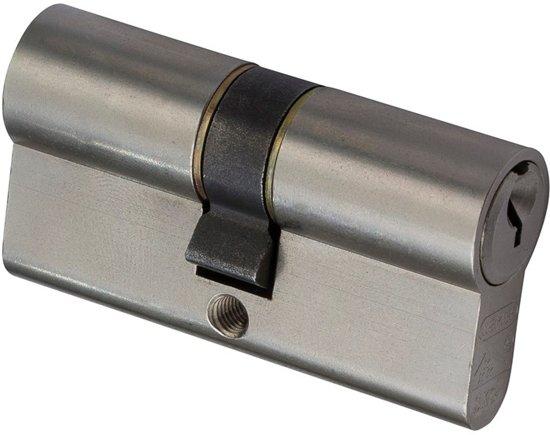 Nemef veiligheidscilinder 132/9 - Met boorbelemmering - Anti Slagpick - Kerntrekbeveiliging - SKG*** - Met gevarenfunctie - Met 3 sleutels - 1 cilinder in verpakking