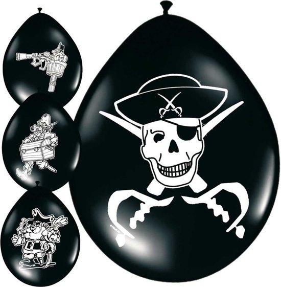 Piraten ballonnen 8 stuks