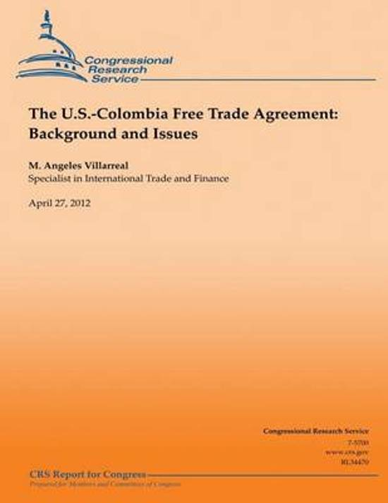 Bol The Us Colombia Free Trade Agreement M Angeles