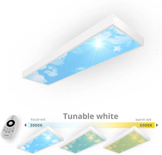 Easy Daylight Panel   Wolkenplafond lamp   Smal - Tunable White