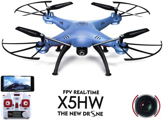 Syma  X5HW live Camera Drone FPV Real-Time + (batterijen 4x AA Kingever Gold)