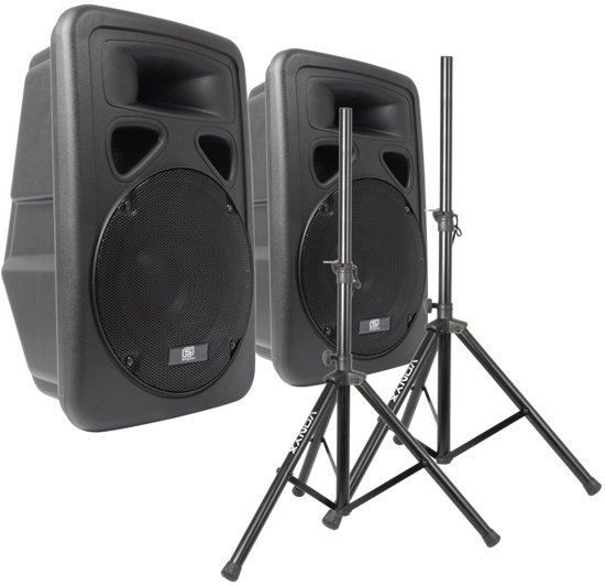 Actieve 12 luidsprekerset 1200W met standaards
