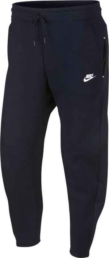Nike Tech Fleece Pant OH Joggingsbroek Heren - Obsidian/(White) - Maat XXL