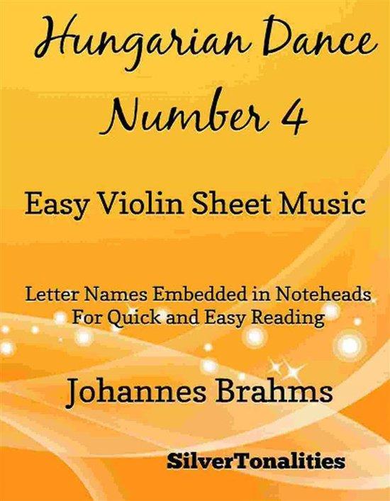 Hungarian Dance Number 4 Easy Violin Sheet Music