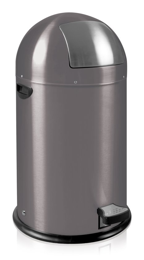 EKO Kickcan Prullenbak - 33 l - Grijs