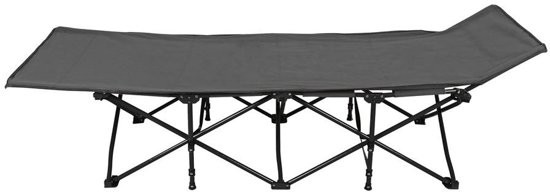 Abbey Camp Veldbed.Abbey Camp Campingbed Opvouwbaar 200 X 70 X 45 Cm Antraciet