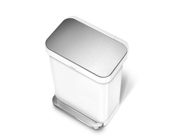 Simplehuman Rectangular Liner Pocket 45 Liter RVS/Wit