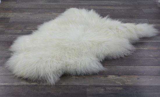 Schapenvachtje IJslandse Lamsvachtje - Vloerkleed 100% ECHT Ivoor Wit - 110 x 65 cm - Zeer Lang Haar