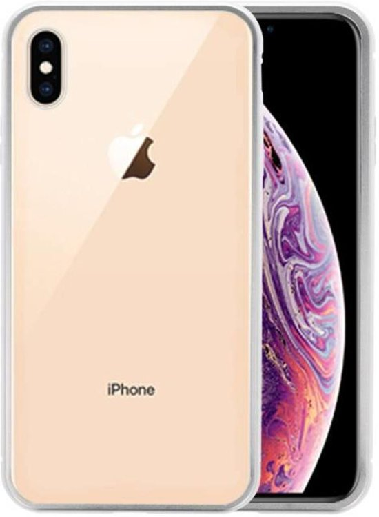 Magnetic Back Cover iPhone XS Max Zilver - Transparant