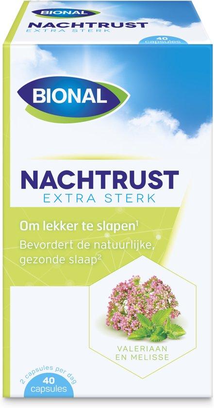 Bional Nachtrust Melatonine - met valeriaan - 40 capsules - Voedingssupplement