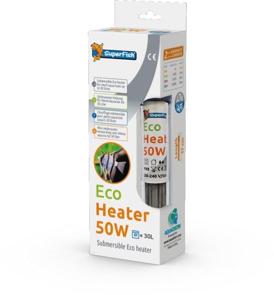 Superfish Nano Heater - Aquarium - Verwarming - Tot 30 ltr - 50W - 17 cm