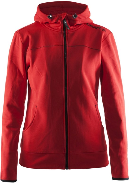 Craft Leisure Full Zip Hood Women bright red M
