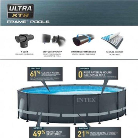 Intex Opzetzwembad Met Accessoires Ultra Xtr Frame 732 X 132 Cm Antraciet
