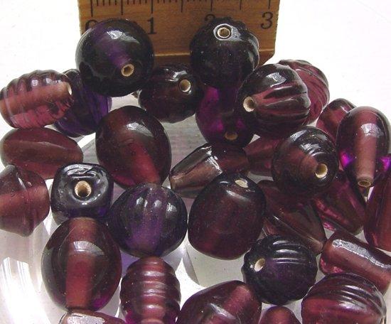 Glaskralen / kralen paars mix ca.1000 gram