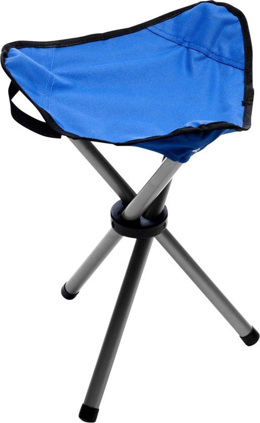 Opvouwbaar inklapbaar driepoot krukje camping kampeer stoeltje blauw - Te nemen afscheiding ...
