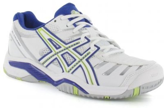 Asics - Gel-Challenger 9 - Tennisschoenen - Dames - Maat 43.5 - Wit/Blauw/Groen