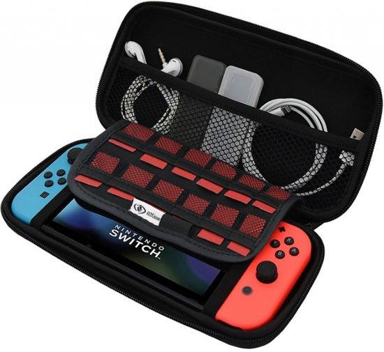 Nintendo Switch premium opberg hoes met extra veel opbergvakken, tasje / case / cover / skin