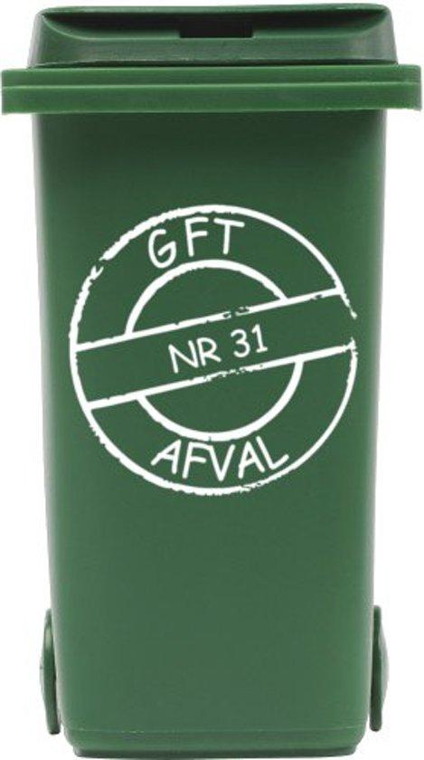 Top bol.com | Sticker cirkel gft kliko container met huisnummer | Rosami WF12